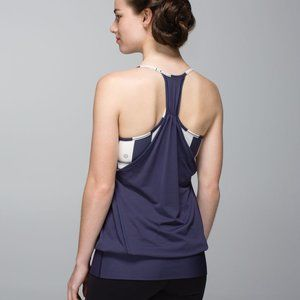 Lululemon No Limits Tank Cadet Blue / Steep Stripe